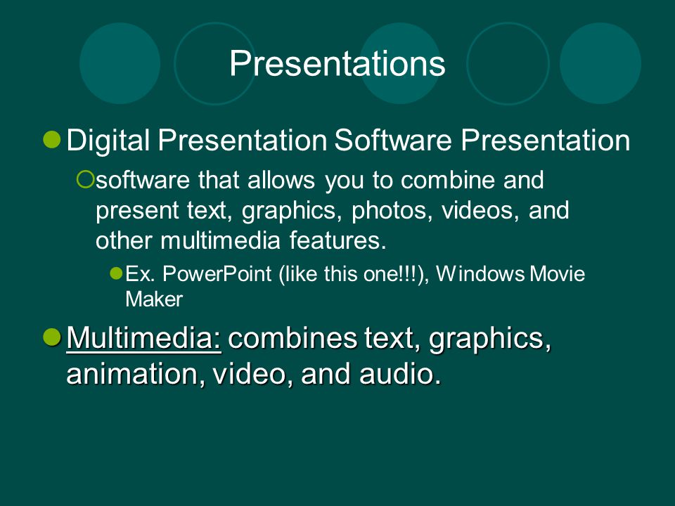 Presentations Digital Presentation Software Presentation