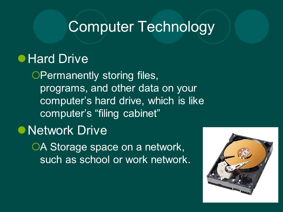 Computer Technology Hard Drive Network Drive