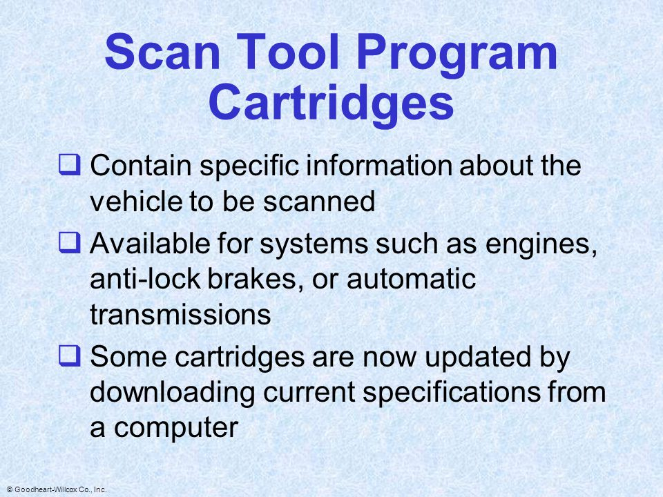Scan Tool Program Cartridges