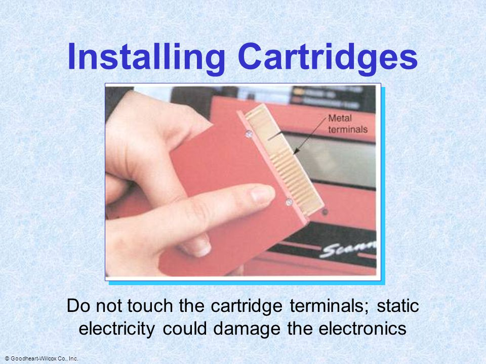 Installing Cartridges