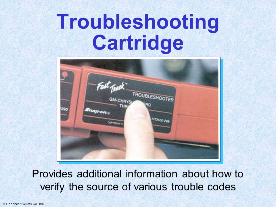 Troubleshooting Cartridge