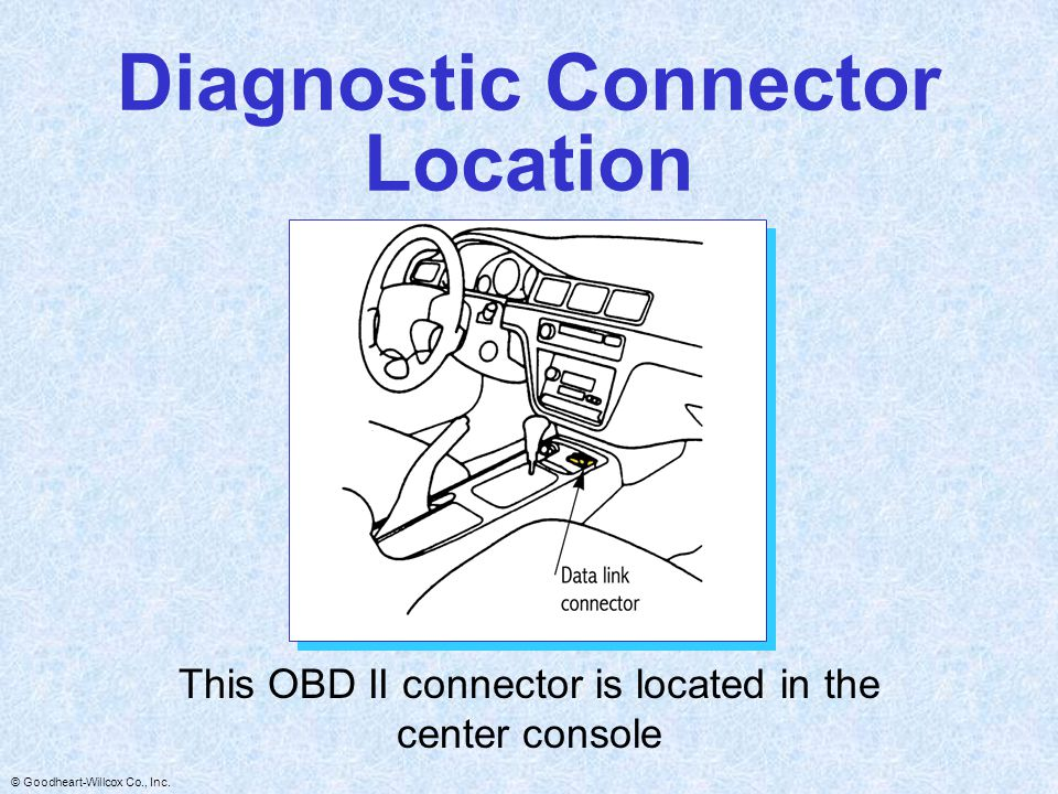 Diagnostic Connector Location