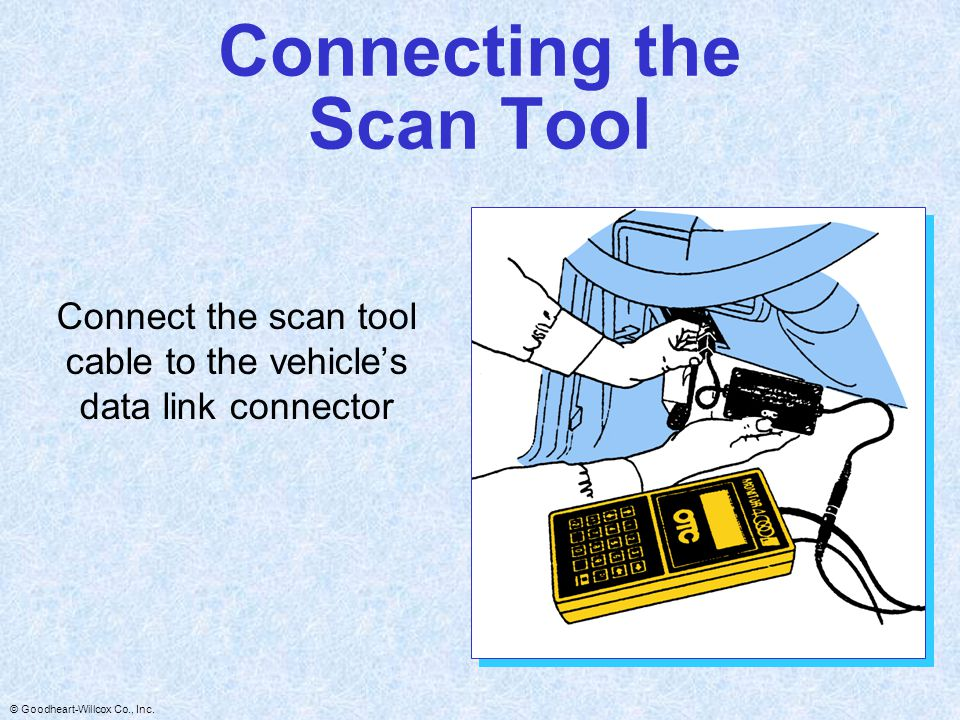 Connecting the Scan Tool