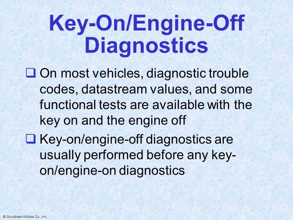 Key-On/Engine-Off Diagnostics