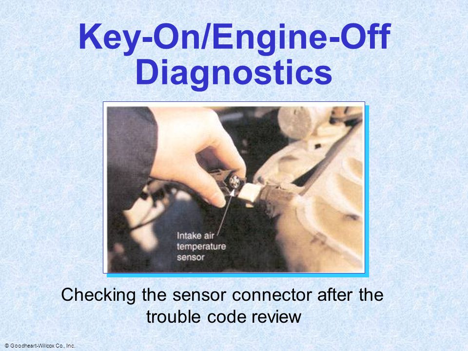 Key-On/Engine-Off Diagnostics