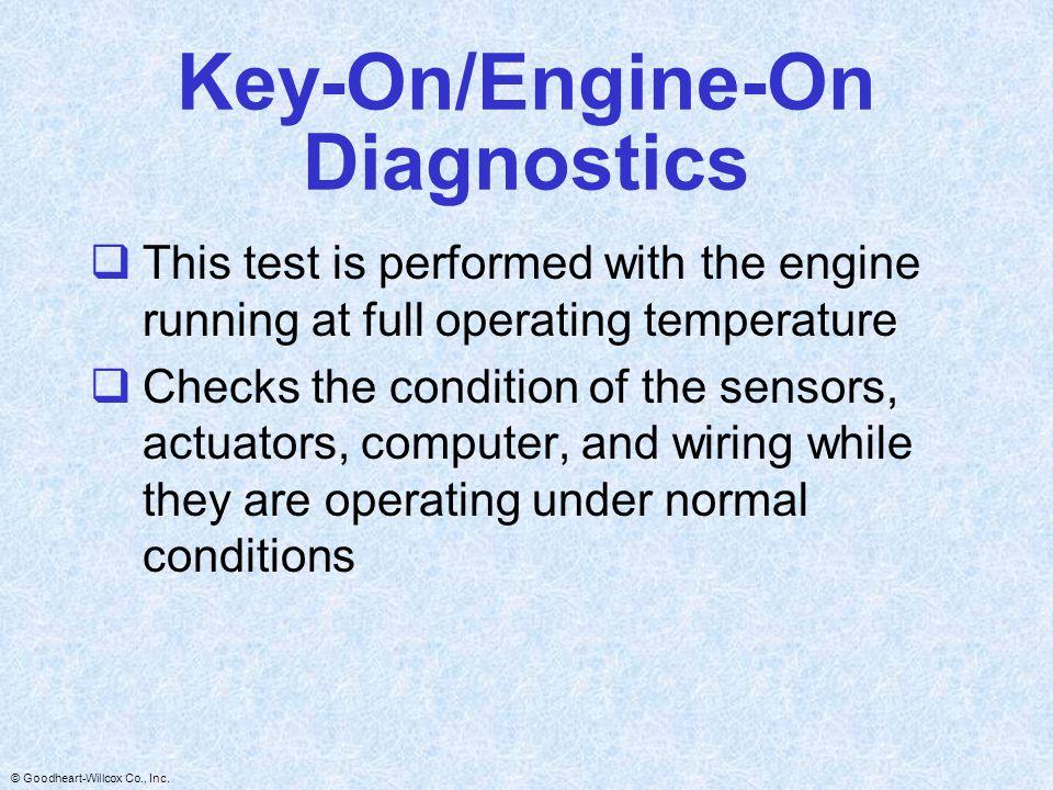 Key-On/Engine-On Diagnostics