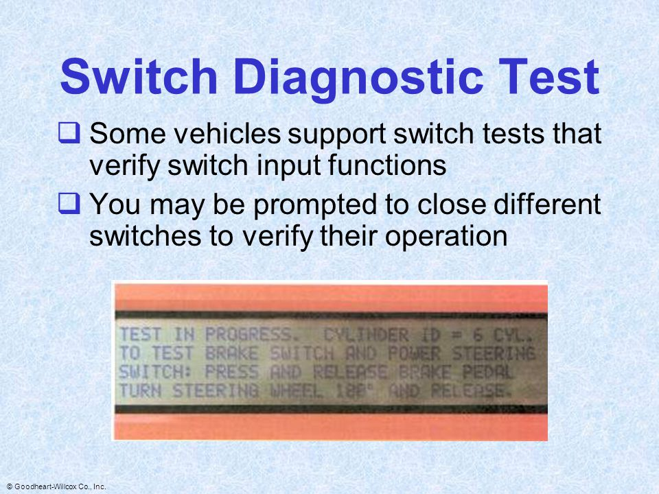 Switch Diagnostic Test
