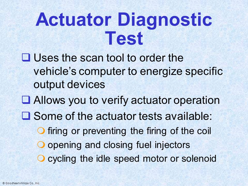 Actuator Diagnostic Test