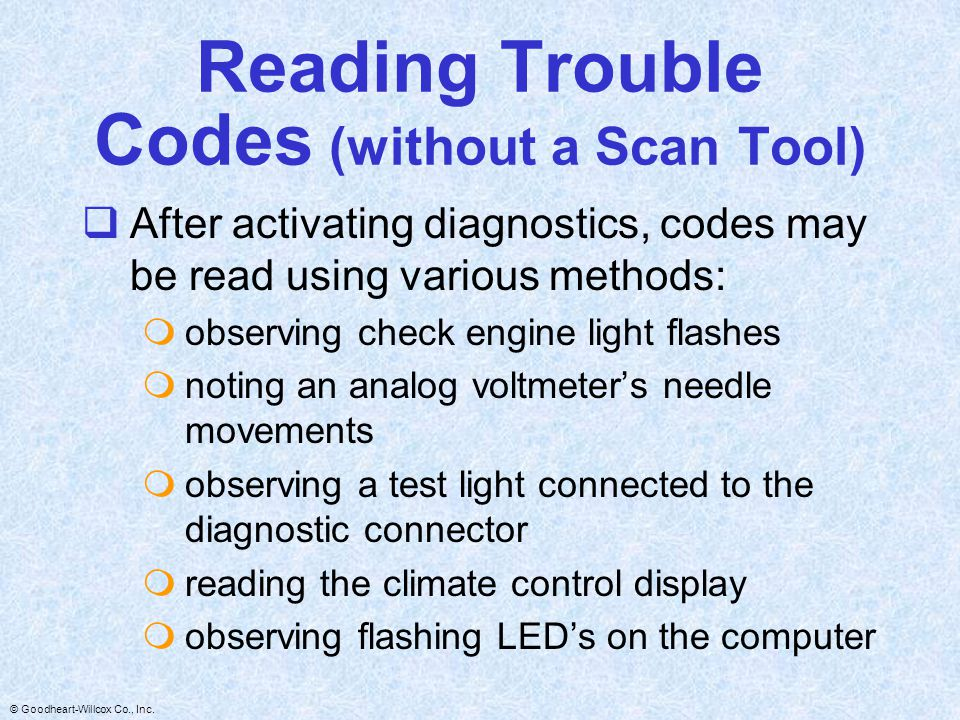 Reading Trouble Codes (without a Scan Tool)
