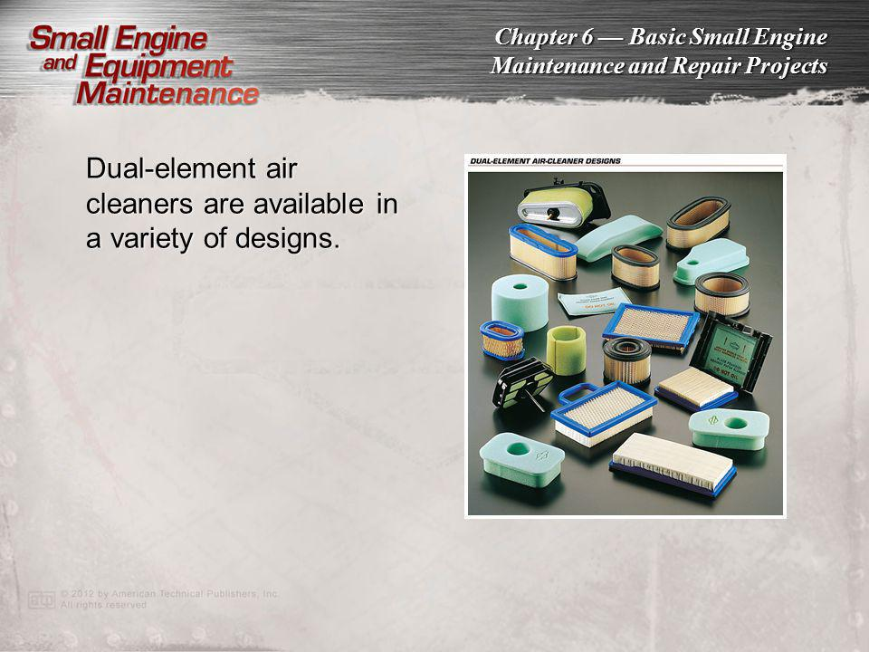 Dual-element air cleaners are available in a variety of designs.