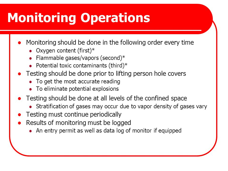 Monitoring Operations