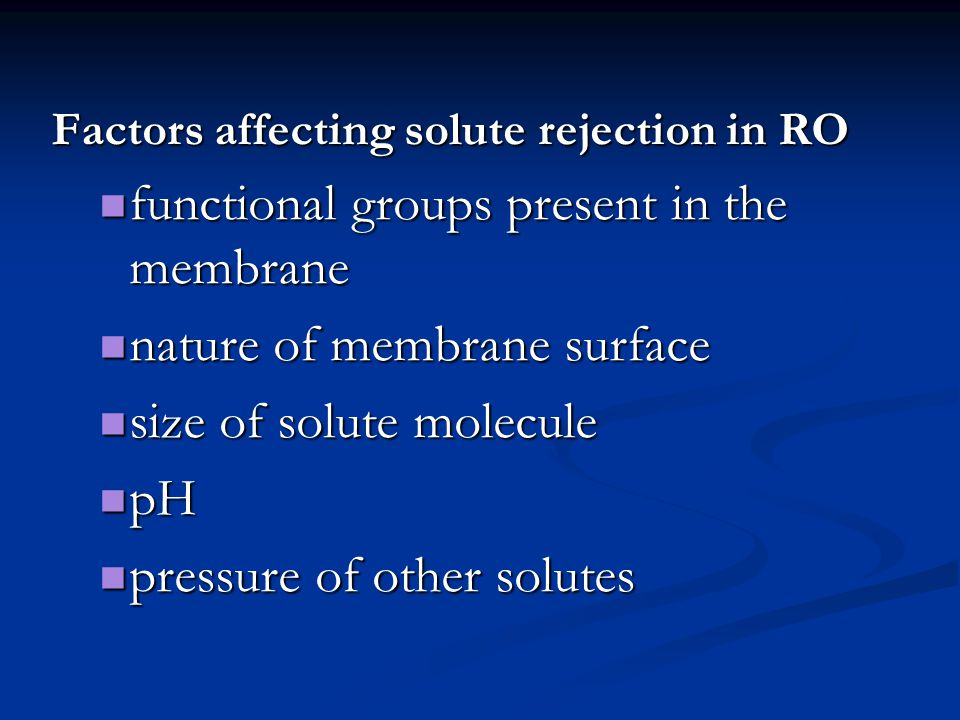 functional groups present in the membrane nature of membrane surface