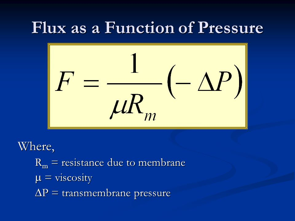 Flux as a Function of Pressure
