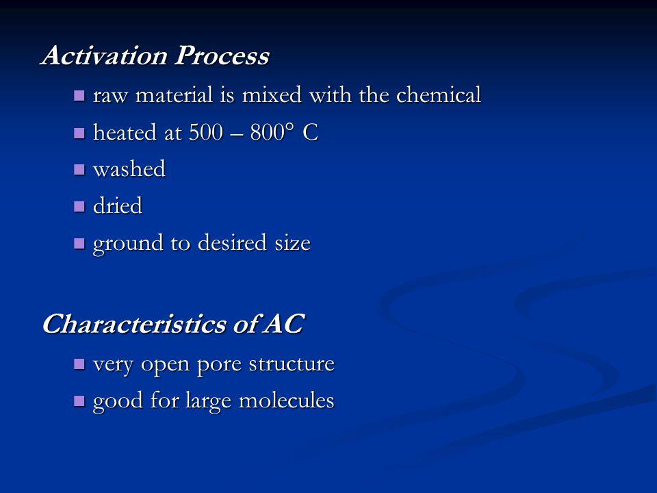 Activation Process Characteristics of AC