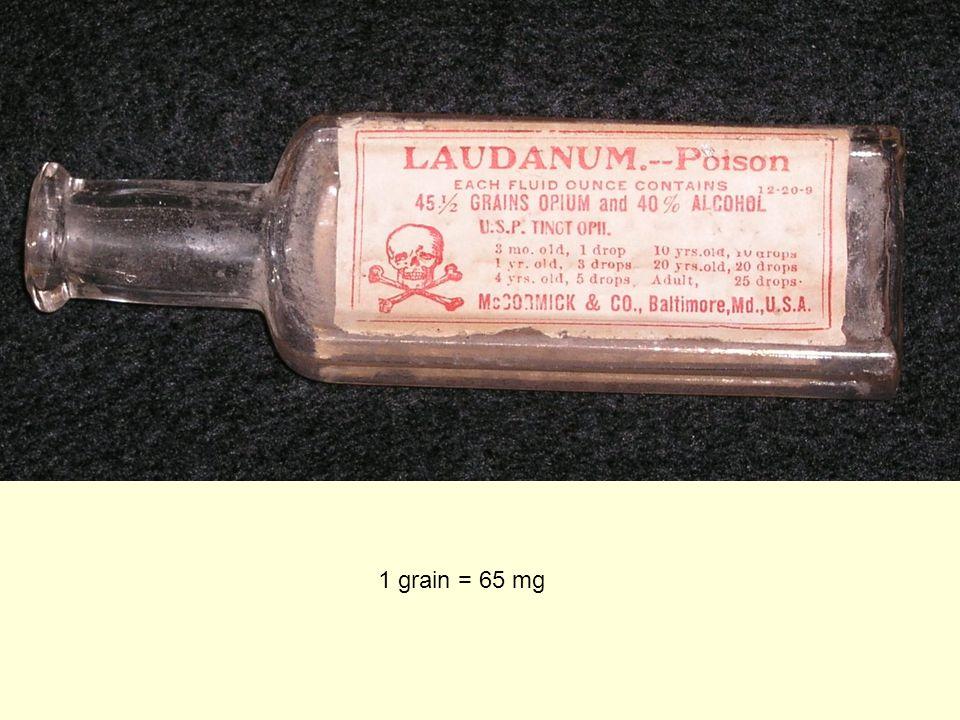 1 grain = 65 mg