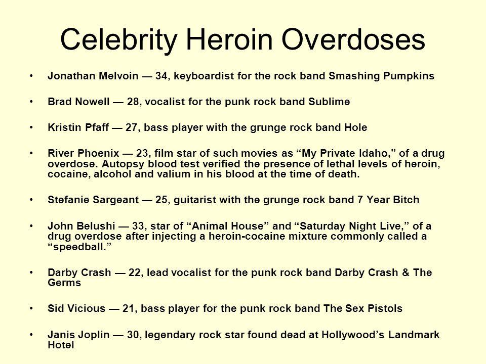 Celebrity Heroin Overdoses
