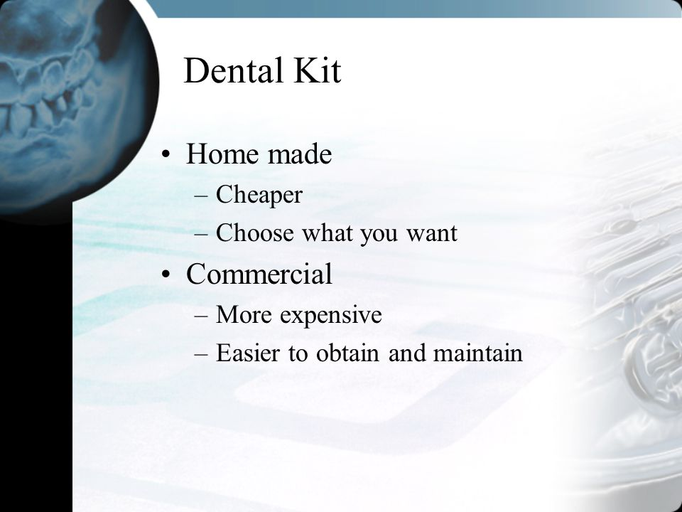 Dental Kit Home made Commercial Cheaper Choose what you want
