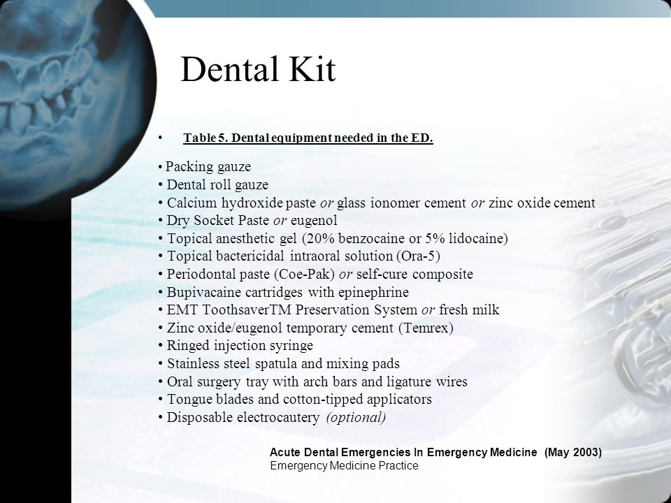 Dental Kit • Dental roll gauze