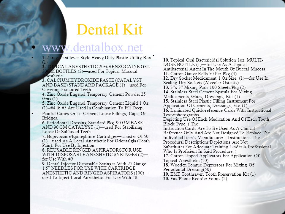 Dental Kit www.dentalbox.net