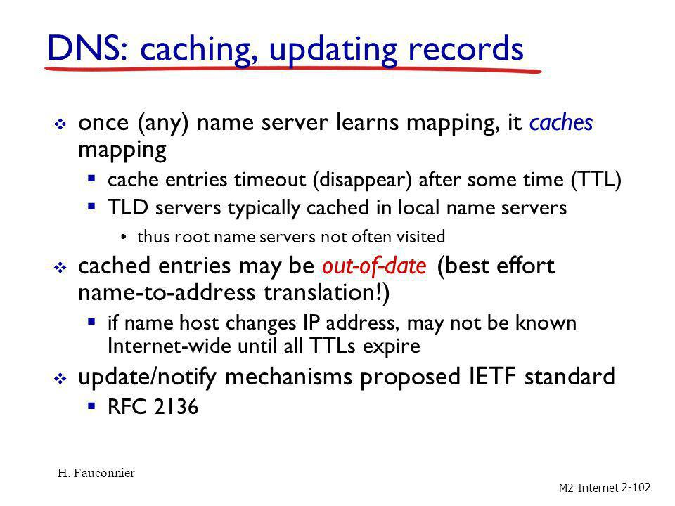 DNS: caching, updating records