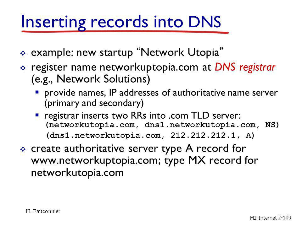 Inserting records into DNS
