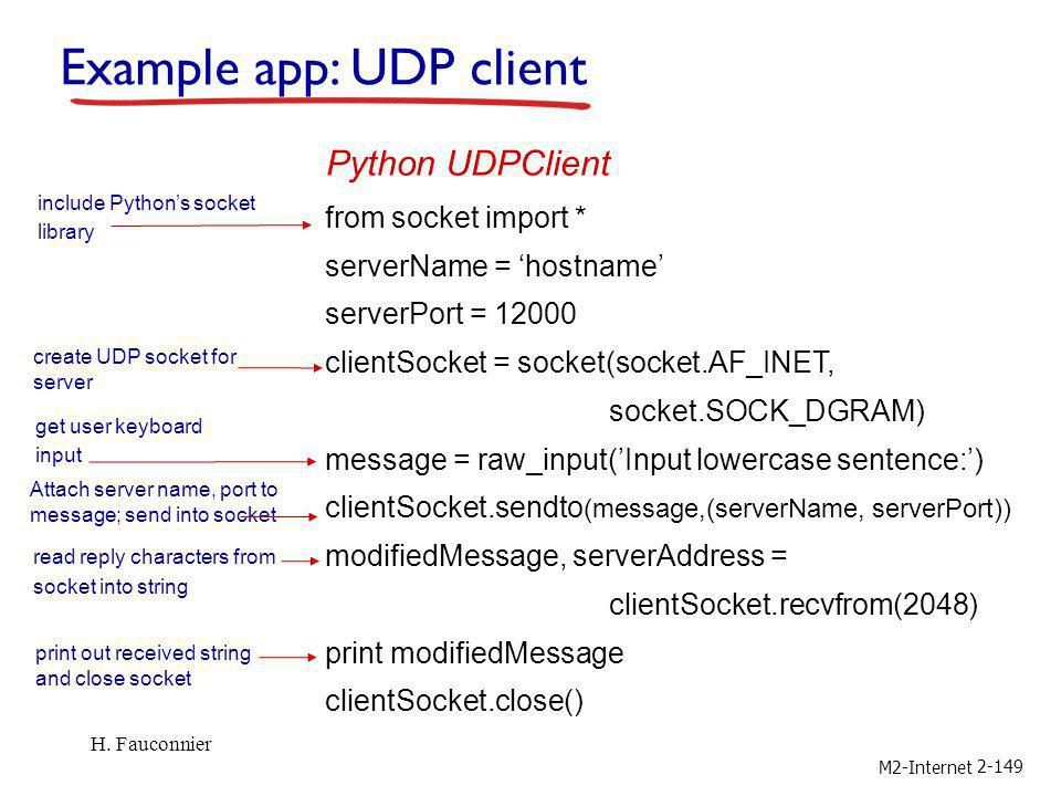 Example app: UDP client