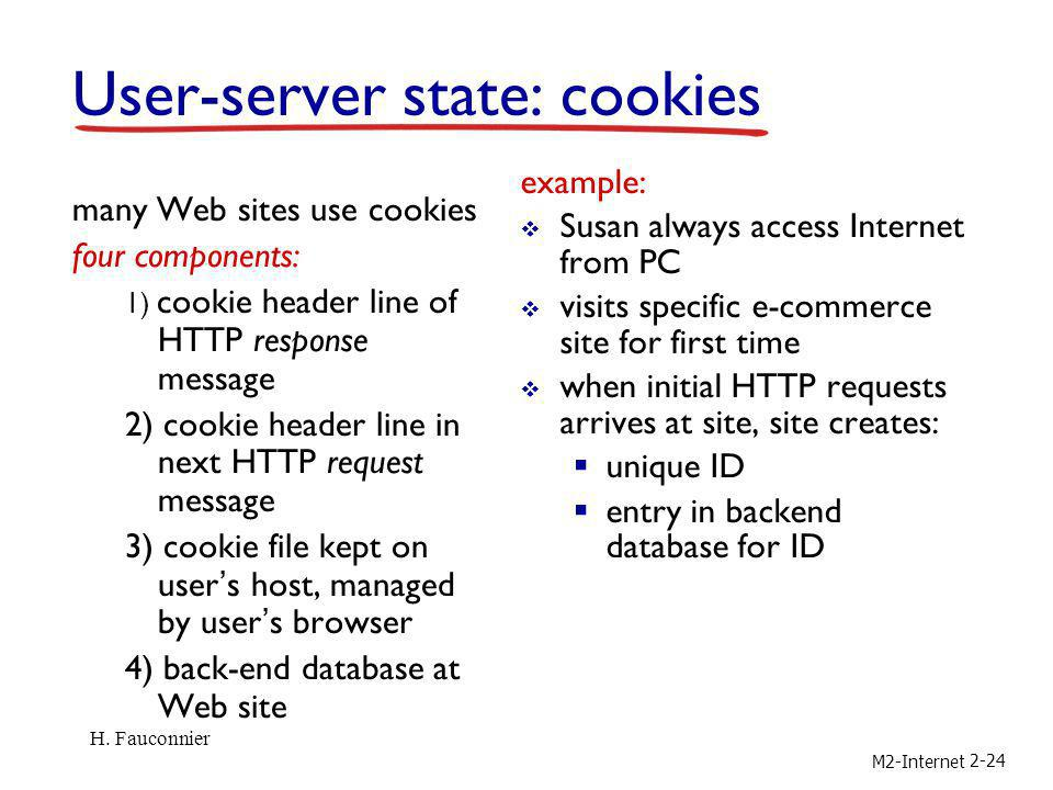 User-server state: cookies