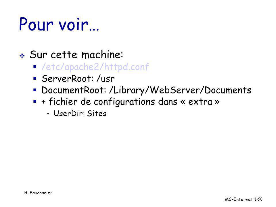 Pour voir… Sur cette machine: /etc/apache2/httpd.conf ServerRoot: /usr