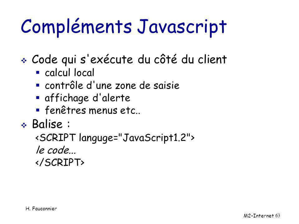 Compléments Javascript