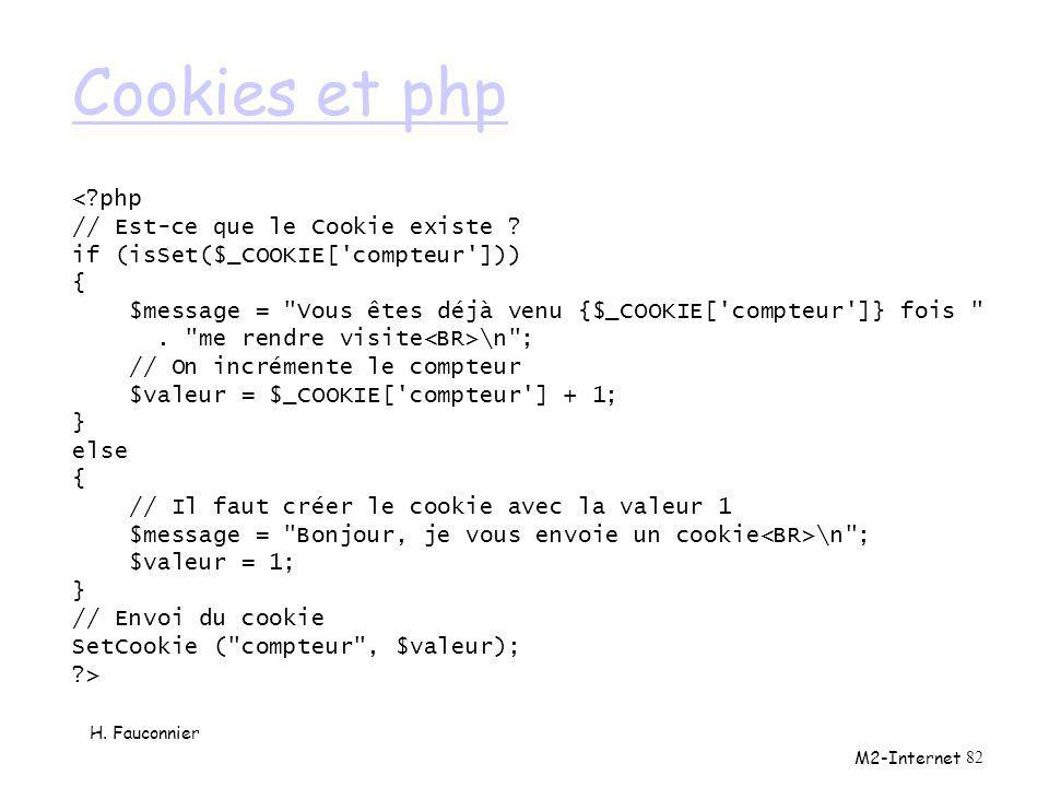 Cookies et php