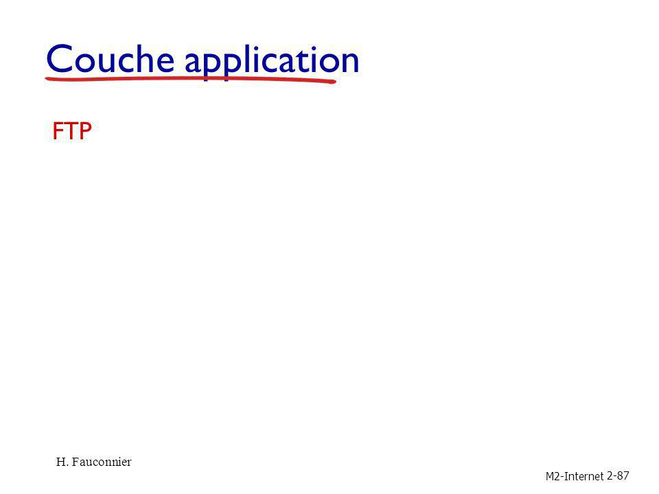 Couche application FTP H. Fauconnier M2-Internet