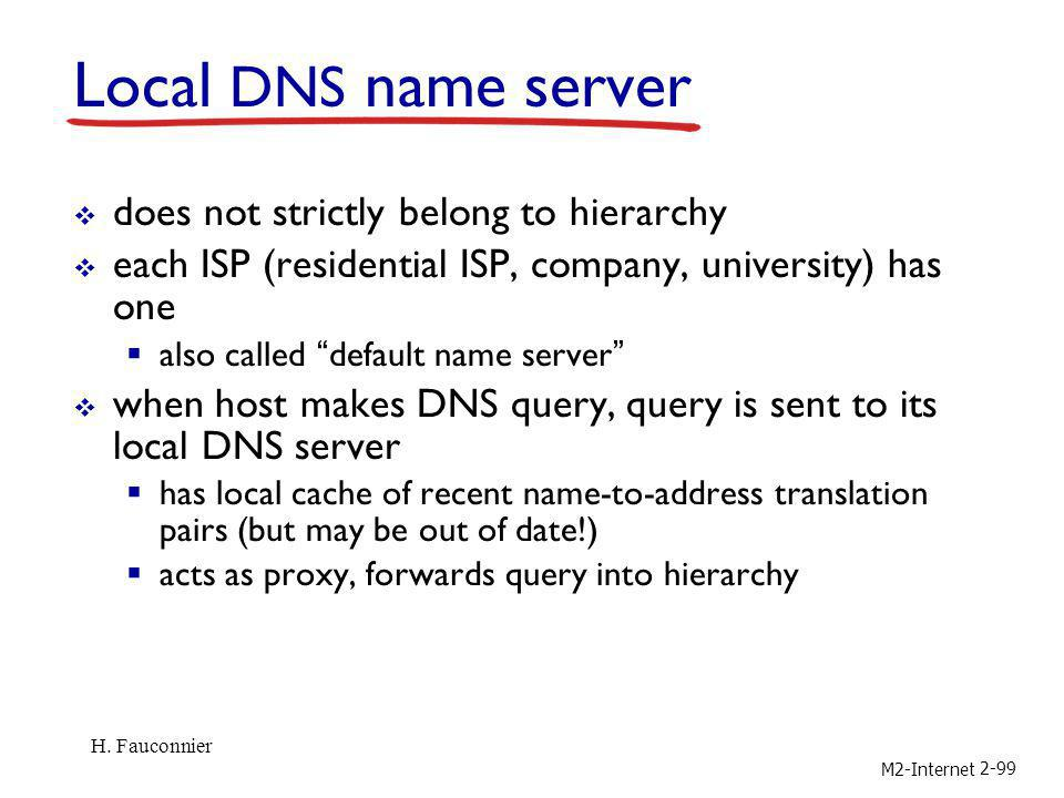 Local DNS name server does not strictly belong to hierarchy