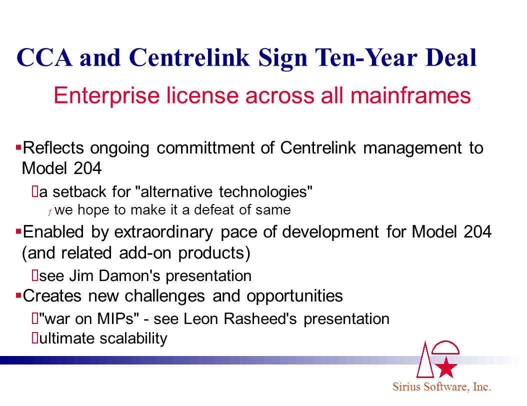 Enterprise license across all mainframes