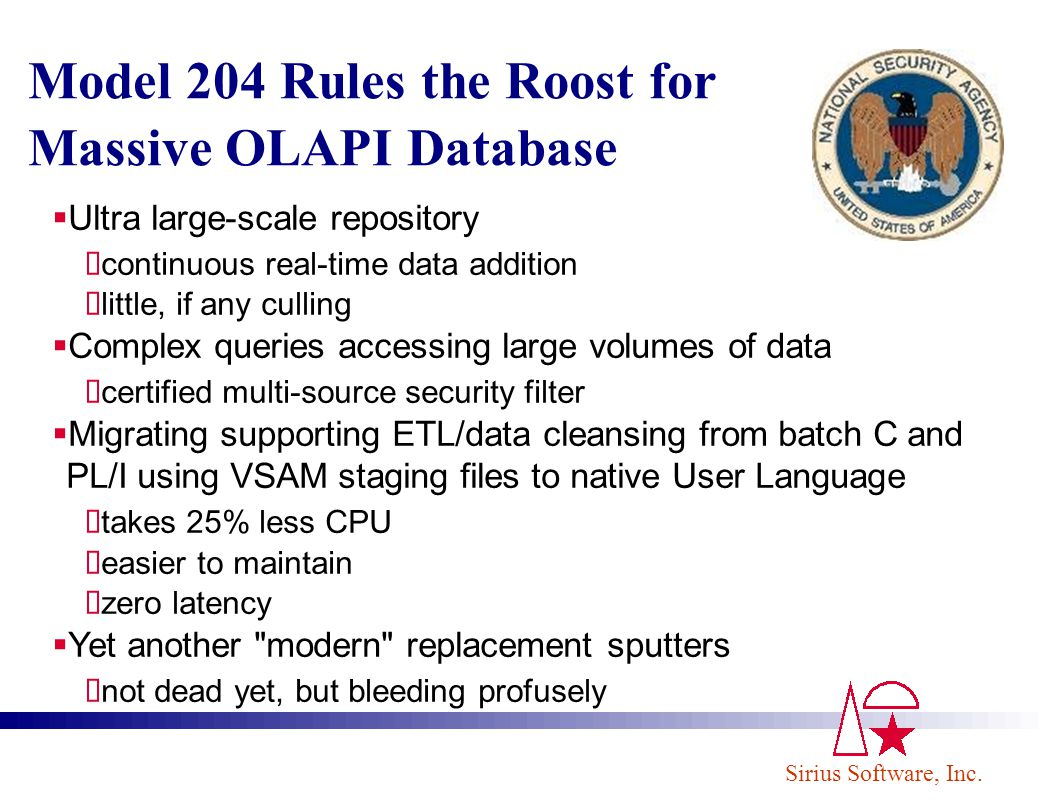 Model 204 Rules the Roost for Massive OLAPI Database
