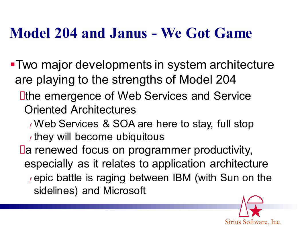 Model 204 and Janus - We Got Game