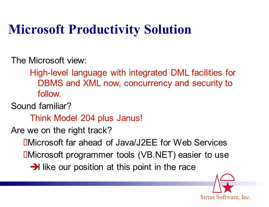 Microsoft Productivity Solution