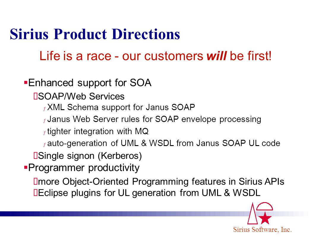 Life is a race - our customers will be first!