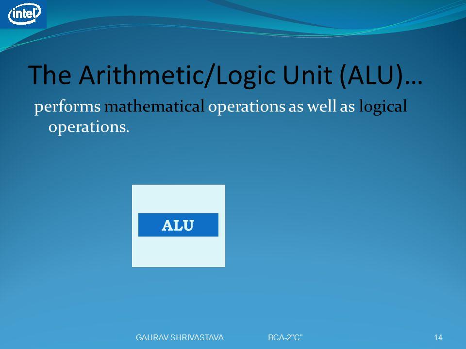 The Arithmetic/Logic Unit (ALU)…