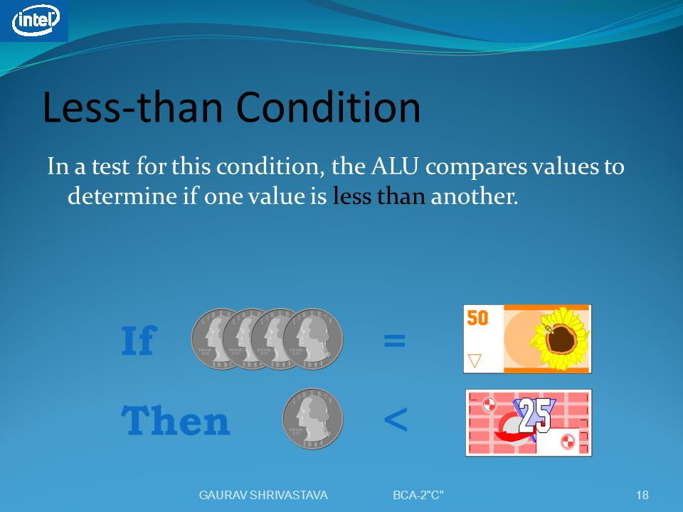 Less-than Condition < If = Then