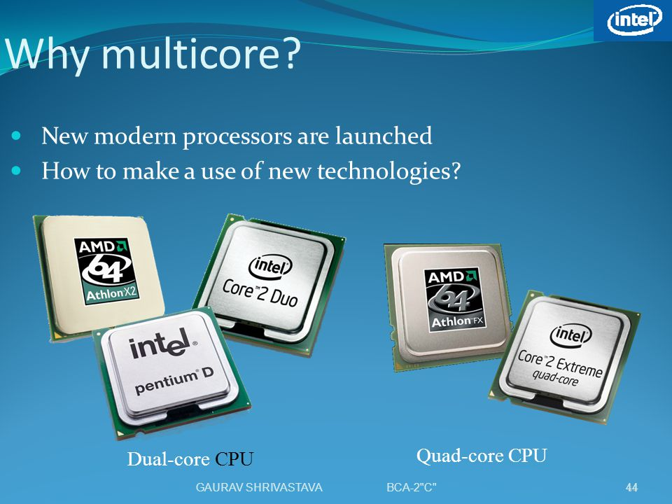 Why multicore New modern processors are launched
