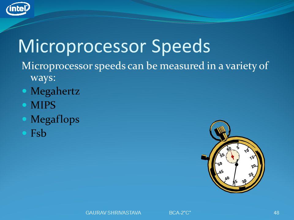 Microprocessor Speeds
