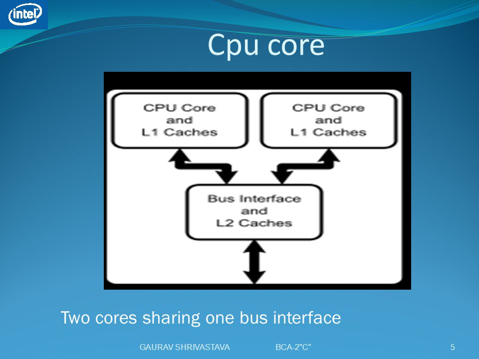 Cpu core Two cores sharing one bus interface