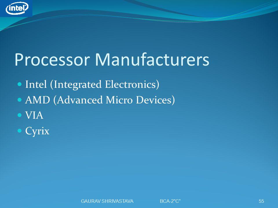 Processor Manufacturers