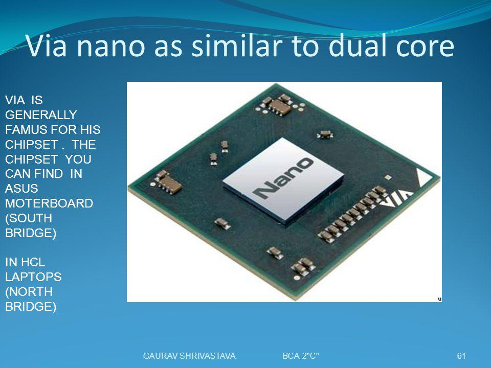 Via nano as similar to dual core