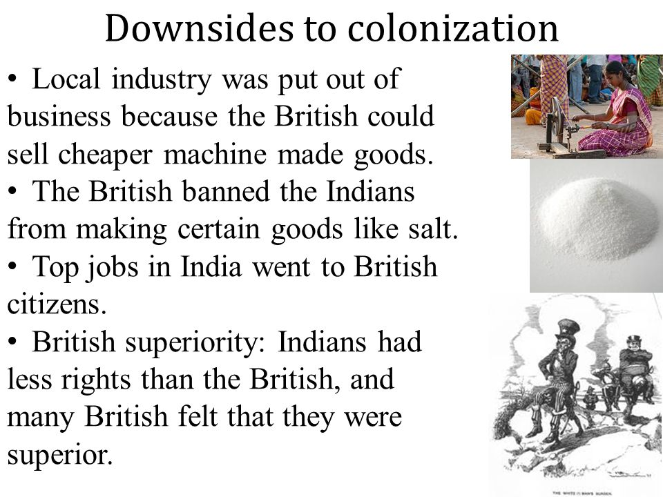 Downsides to colonization