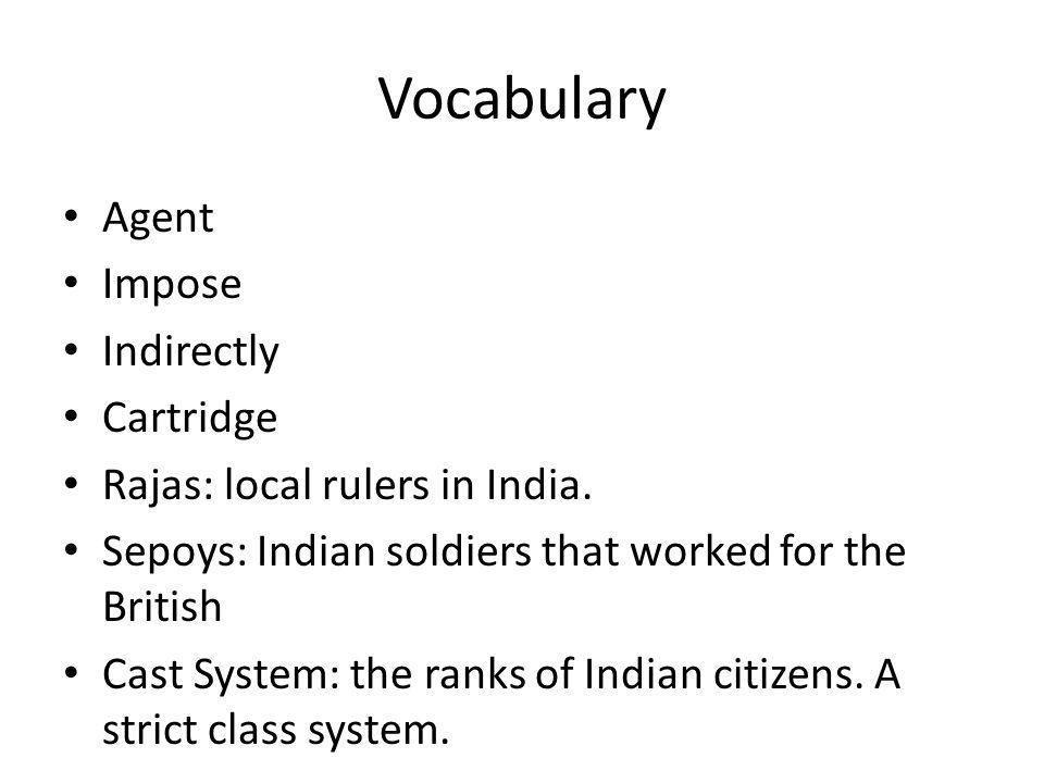 Vocabulary Agent Impose Indirectly Cartridge