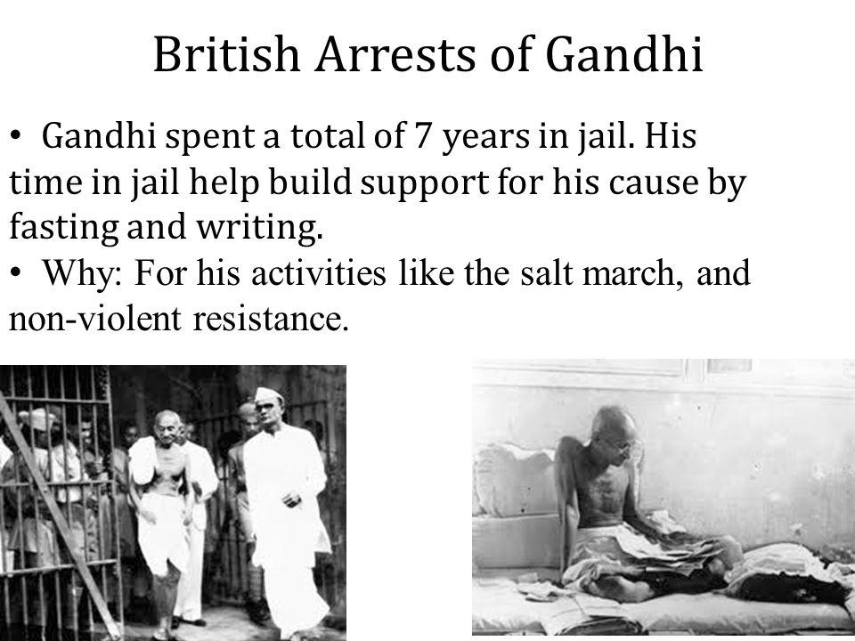 British Arrests of Gandhi