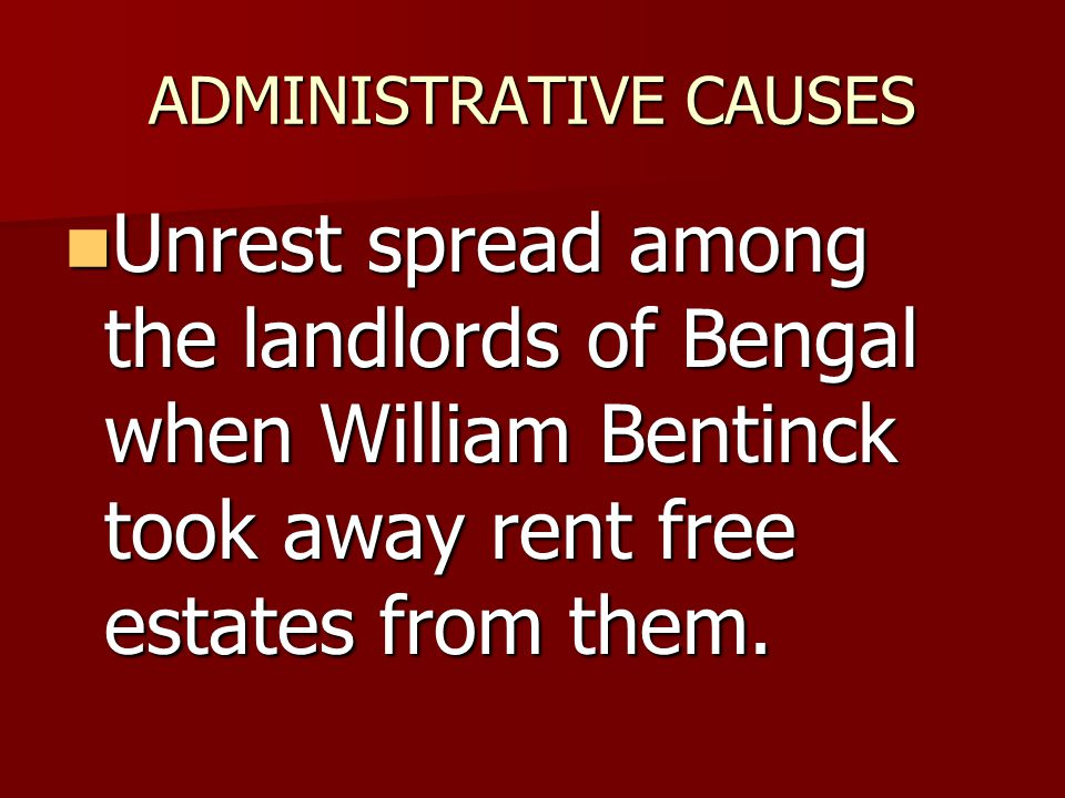 ADMINISTRATIVE CAUSES