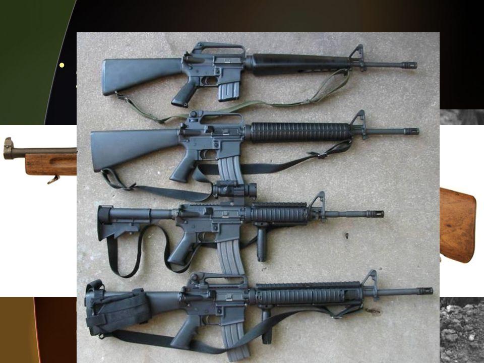 Machine guns were refined in World Wars I and II.