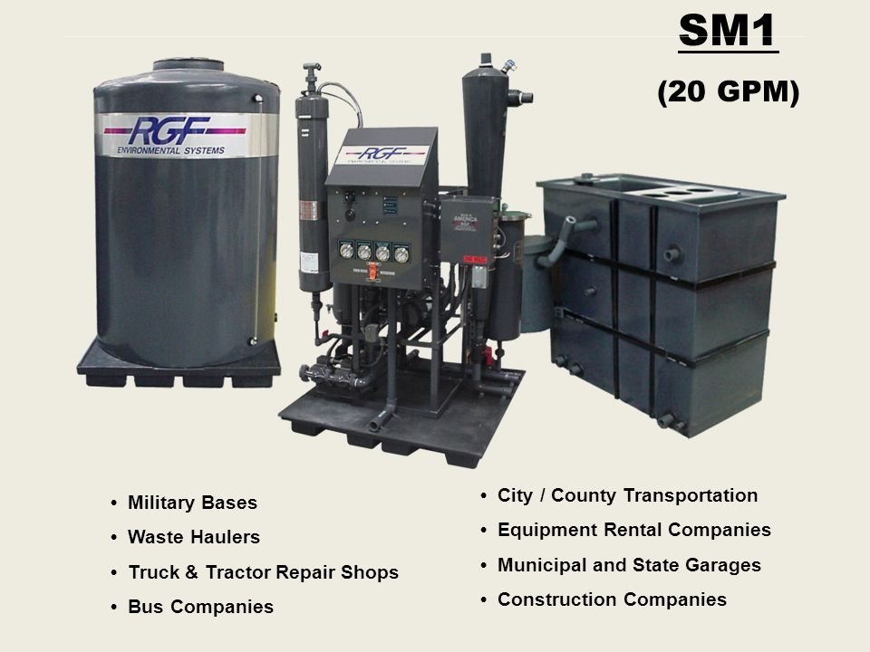 SM1 (20 GPM) • City / County Transportation • Military Bases